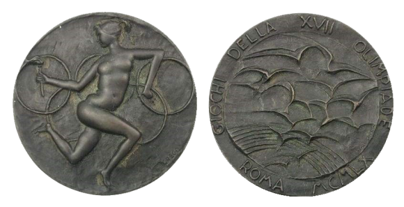 1960 Rome Olympic Participation Medal